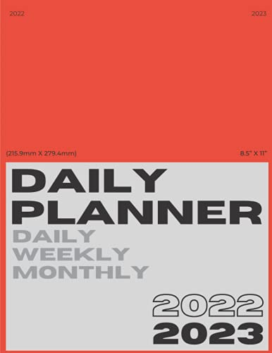 Hypebeast 2022 Daily/Weekly/Monthly Planner (Ferrari Red Cover):: 8.5x11 inches. 120 pages. Calendar/Notebook/Journal/2022 Planner.