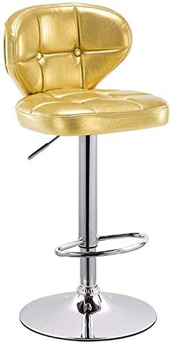 Wenli - Taburete de bar regulable, silla de bar, taburete de bar, taburete alto, silla de respaldo, sin rotación (63-83 cm) (color: dorado, tamaño: 41 cm)