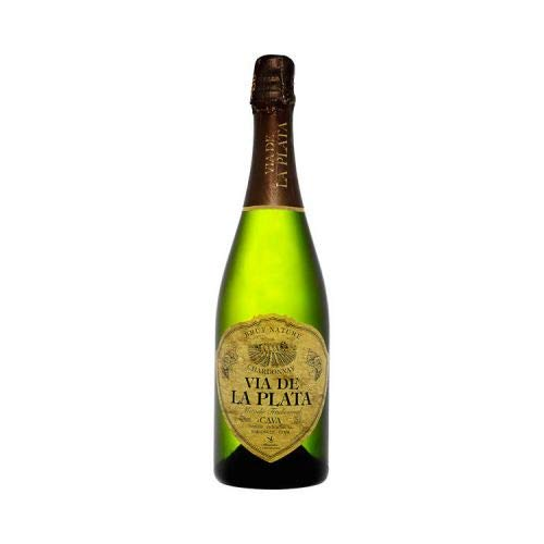 VIA DE LA PLATA, Cava Extremeño Brut Nature Chardonnay, Botella 0,75 L