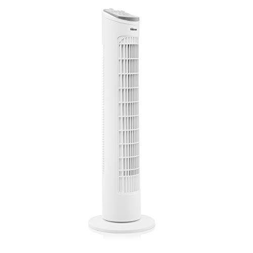 Tristar VE-5864 Turm-Ventilator, Oszillierend 85°, 40 Watt Leistung, mit Timerfunktion, optimal für den Einsatz im Schlafzimmer