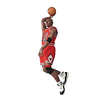 YJJ NBA Series Michael Jordan Action Figure 23 Red Uniform Basketball Sports Statue Model Doll Static Room Table Decoration PVC Collection Birthday Gifts