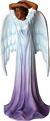 "African American Expressions - Diva Angel Polyresin Figurine (4.1"" x 3.5"" x 8.6"") FAN-01, Purple"