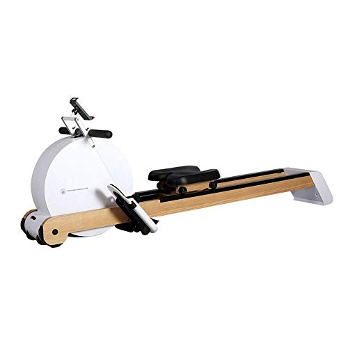 AJH Indoor Home Rowing Machine/Rower,Magnetic Resistance Rowing Machine with Foldable Design,8-Level Adjustable Resistance,Transport Wheels,Suitable for Home Exercise