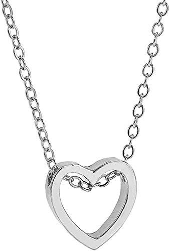 BACKZY MXJP Collar Collar Mujer Corazón Cadena De Acero Inoxidable Colgante Colgante Collar Joyas Collar Largo Collar