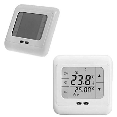 LCD-Digitalthermostat, Raumheizungsthermostat Raumtemperaturregler Fußbodenheizung Programmierbarer Bodensensor