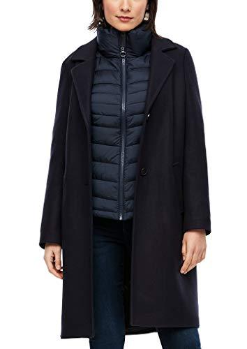 s.Oliver Damen Wollmix-Mantel mit Ziernähten Navy 44