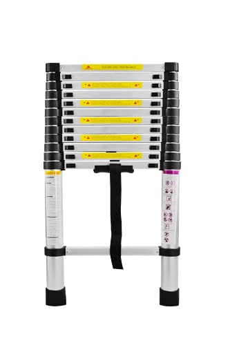 SAILUN® Teleskopleiter Ausziehleiter aus hochwertigem Alu Teleskop-Design Mehrzweckleiter, 13 Sprossen - 87cm bis 3,80m Anlegeleiter, 150 kg Belastbarkeit (3,8m)