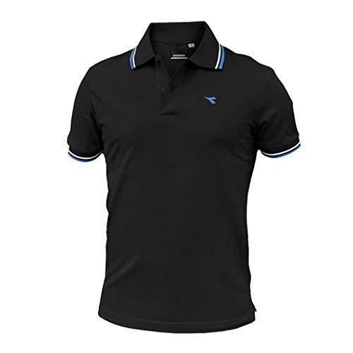 Diadora SS POLO Striped OOOC Hombre Piqué Algodón T-Shirt Regular 102.177175