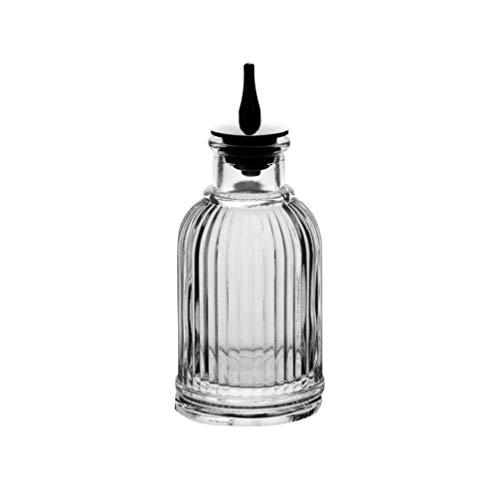 DOITOOL Botella amarga de cristal de 90 ml con tablero superior para mezclólogo profesional, dispensador de whisky, cóctel amargo, estilo 1