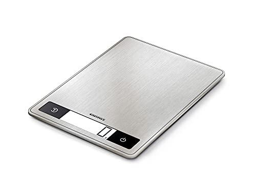 Soehnle Page Profi 200 Balance de cuisine multifonctions compacte & élégante, balance culinaire précision 1 g, pèse aliment jusqu'à 15 kg - acier inoxydable