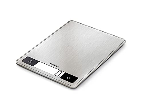 Soehnle Page Profi 200 Bilancia pesa alimenti digitale, Bilancia da cucina da 1 g a 15 kg compatta ed elegante, Bilancia cucina digitale, grigio