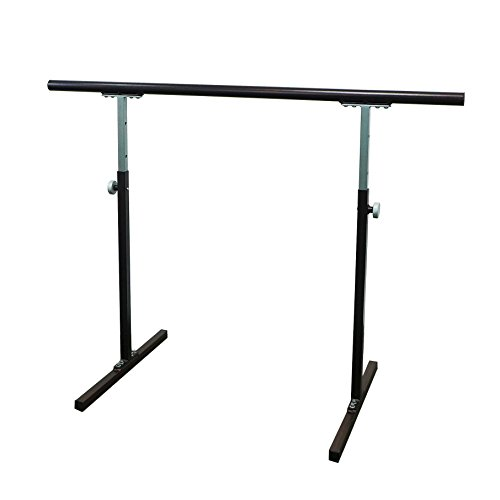 Softtouch Ballet Barre 4 ft. Portable Dance Bar - Adjustable Height 31' - 49' - Freestanding Stretch Barre 46'