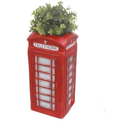 Primus Traditional Red Telephone Box Planter Garden Ornament