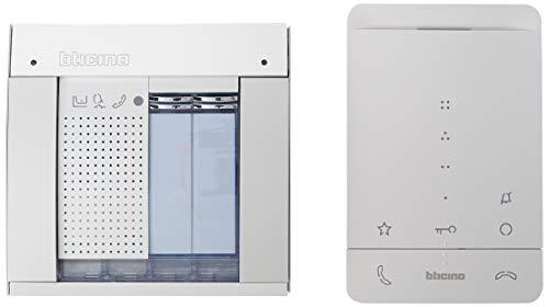 Legrand, Audio-Türsprechanlage Set, 2-Draht für das 1-Familienhaus mit SFERA Allmetal Audio-Türstation, Classe 100 A16E Audio-Innenstelle und Netzgerät, 364234