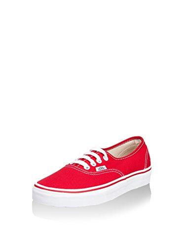 Vans Authentic, Zapatillas de Tela Unisex, Rojo (Red), 36 EU