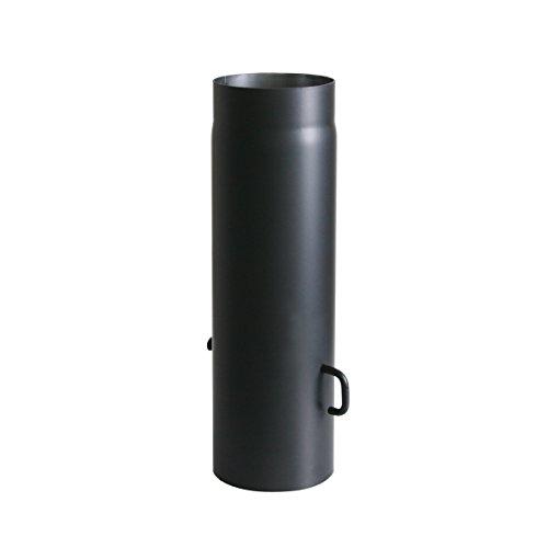 Ofenrohr Senotherm mit Drosselklappe Wandstärke 2 mm Ø 150 hitzebeständig lackiert - Rauchrohr, Kaminrohr schwarz - für Kaminöfen - verscheidene Längen (500 mm)