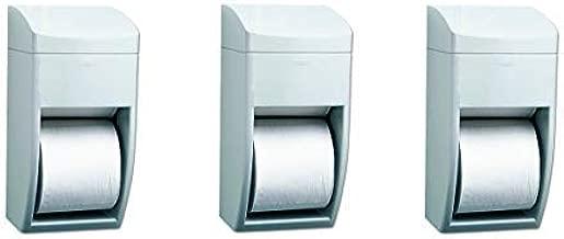 Bobrick 5288 Matrix Series Two-Roll Tissue Dispenser, 6 1/4w x 6 7/8d x 13 1/2h, Gray (3-(Pack))