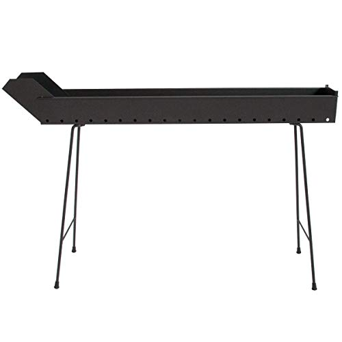 CRUCCOLINI BA15 Barbecue Arrosticini a Carbone, Nero, 113x13x76 cm