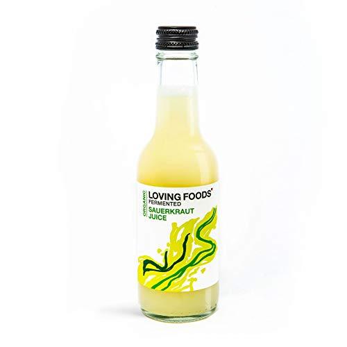 Loving Foods Bio Klassischer Sauerkrautsaft (250ml) ROH | NICHT PASTEURISIERT | LEBENDIG (12 x Flaschen)