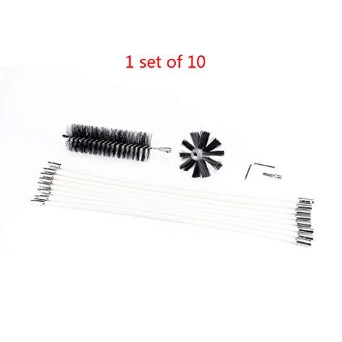 Siwetg Schoorsteenreiniger borstelreiniging rotary sweep systeem open haard kit Flexible Rod Tools