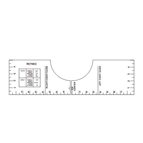 Dan&Dre T-Shirt Lineal, Führung Vinyl T-Shirt Lineal Führung Shirt Ausrichtung, Führungswerkzeug T-Shirt Ausrichtung Werkzeug, Kalibrierungswerkzeug für HTV, Side Scale Measuring Tool
