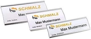 Placas Identificativas Set Completo, Plata Leichtemtall, con Extra Fuerte 3-fach Imán, Moda Arqueado,Aluminio Anodizado,Tr...