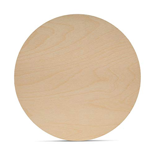 Wood Circles 13 inch, 1/8 Inch Thick, Birch Plywood Discs, Pack of 5 Unfinished Wood Circles for Crafts, Wood Rounds by Woodpeckers