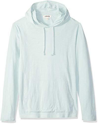 Marchio Amazon - Goodthreads, maglietta leggera da uomo, con cappuccio, in filato di cotone, Blu (Light Aqua), US XXL (EU XXXL - 4XL)