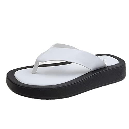 QQWD Sandalias De Vestir, 2021 Novedad De Verano Peep-Toe Suave Y Resistente Al Desgaste Zapatos De Playa, Antideslizante Piel Sintética Suave Sandal,36