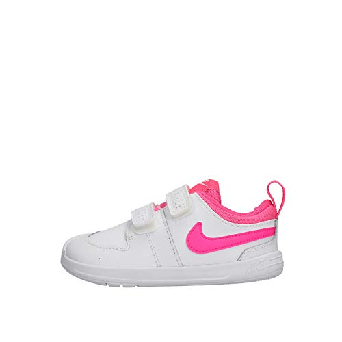 Nike Pico 5, Scarpe da Ginnastica Uomo, Bianco/Rosa, 36 EU