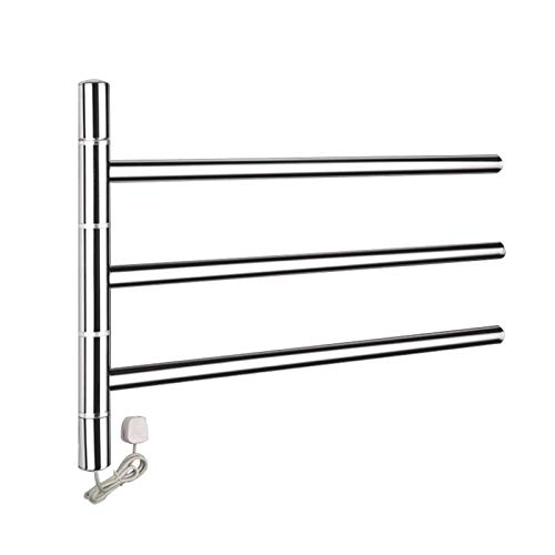 Towel Radiator,Electric Straight Towel Rail, Electric Towel Rack Household Wall-Mounted Shelf Sterilization Dehumidification Intelligent Constant Temperature 304 Stainless Steel For Bathroom Kitchen