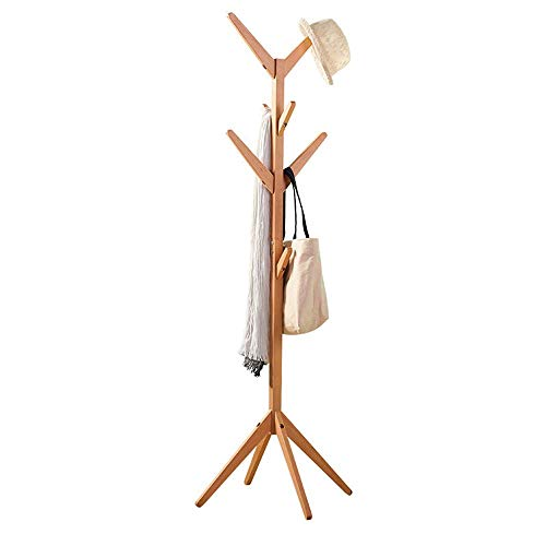 LEILEI Perchero de bambú con Forma de árbol,Perchero de pie con 4 Niveles y pies sólidos,se Adapta a los pasillos de la Oficina en el hogar,Organizador de Ropa Moderno para Ropa,Paraguas,Bolsas