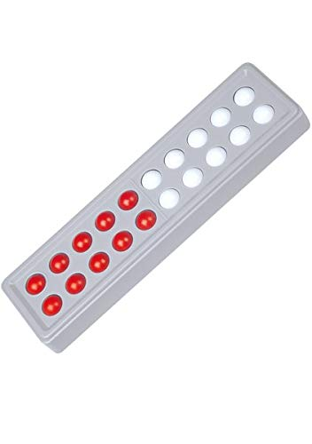 SCHUBI Abaco 20: Modell C 5/5 Kugeln parallel (rot/weiß)