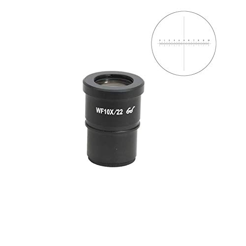 BoliOptics WF 10X Widefield Microscope Eyepiece with Reticle, X-Axis Crosshair, High Eyepoint, Mounting Size 30mm, Field of View 22mm, 10mm/100 Div (One) SZ05013231