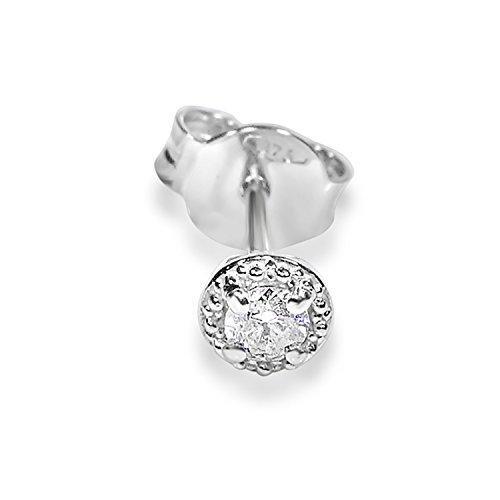 Mono Orecchino Oro e Diamanti Donna Uomo–375Oro Bianco 9Carati–0.04Carati Clicca su MILLE AMORI blu e scopri tutte le nostre collezioni