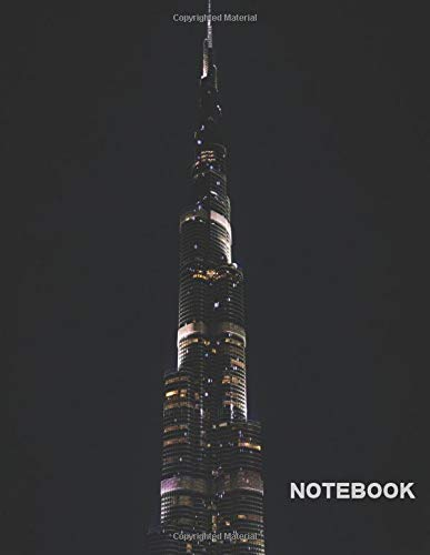 burj-khalifa notebook: Notebook - 8.5 x 11 - College Ruled 120 Pages