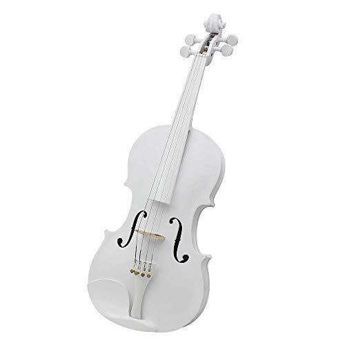 Viool 4/4 witte handgemaakte snaarinstrument spelen viool massief hout viool volwassen beginner muziekinstrument