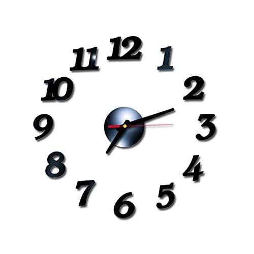 DIY relógio de parede decro Cuculo Relógio de parede DIY Adesivos de parede sem moldura sem moldura Adesivo de design moderno de 40 diâmetros para sala de estar Casa Cozinha Escritório