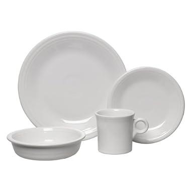Fiesta 16-Piece, Service for 4 Dinnerware Set, White