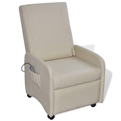 vidaXL Kunstleder Massagesessel Fernsehsessel Relaxsessel Massage TV + Heizung