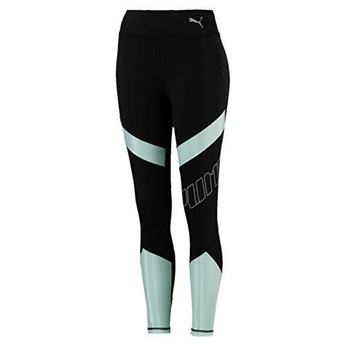 PUMA Damen Elite Speed Tight Leggings, Black-Fair Aqua, S
