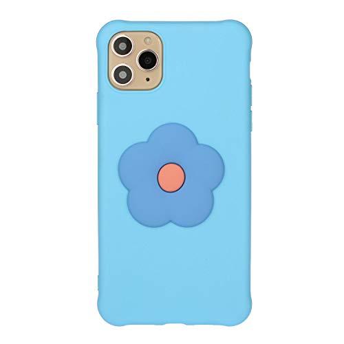 Redcolourful para i-Phone 11/11 Pro / 11 Pro MAX Funda para teléfono móvil TPU Funda para teléfono Protección de Cuerpo Completo con patrón de florete Fresco Light Blue i-Phone 11 Pro MAX