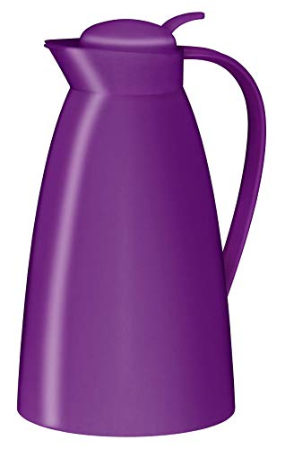 alfi Eco, Thermoskanne Kunststoff violett 1l, mit alfiDur Glaseinsatz, 0825.239.100, Isolierkanne hält 12 Stunden heiß, ideal als Kaffeekanne oder Teekanne, Kanne für 8 Tassen
