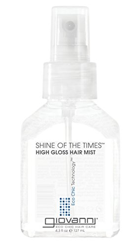 GIOVANNI Shine of the Times Finishing High-Gloss Hair Mist, 4.3 oz. Smoothing Anti Frizz Hair Gloss, No Parabens, Color Safe (Pack of 1)