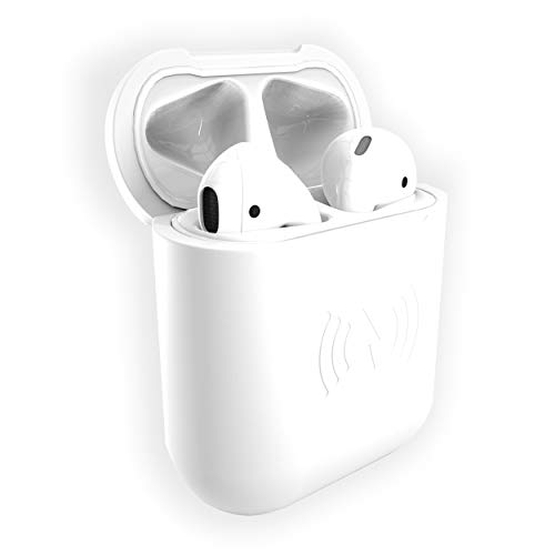 East Brooklyn Labs SliQ Qi Wireless Charging Case and Protective Sleeve Compatible with Apple Airpod Earphones, Case Only Does Not Include Airpods (White)