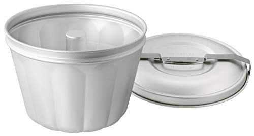 Dr. Oetker 2531 Wasserbadform Aluminium Ø 21 cm, Backform für Gugelhupf aus Stahlblech, Puddingform für eindrucksvolle Kreationen, hochwertige Backform (Füllvolumen: 2,5 Liter), Menge: 1 Stück