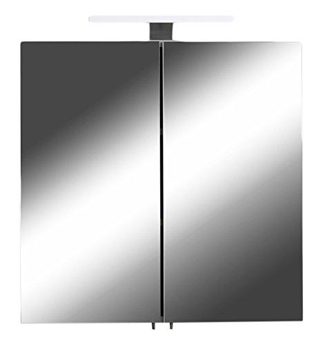 Homexperts Spiegelschrank, Holz, Weiß, 2 Türen