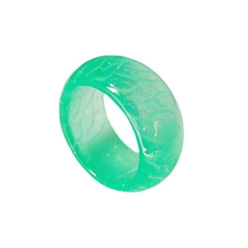Toyvian Kinder Party Finger Ring glühend Harz Ring Kinder blinkring Spielzeug Blinkende Party Ringe leuchten kinderspielzeug
