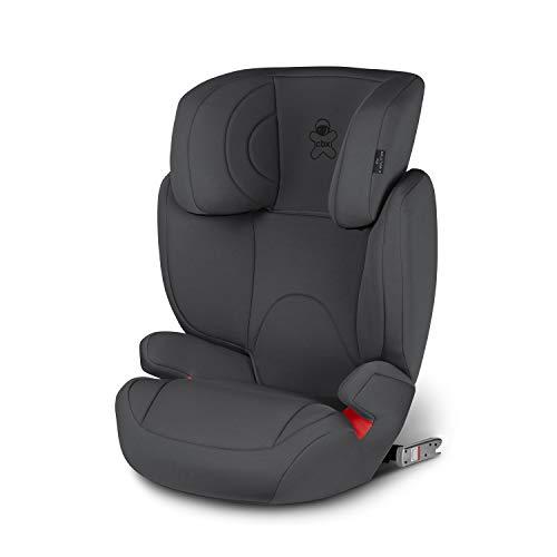 cbx Kinder-Autositz Solution 2-Fix, Gruppe 2/3 (15-36 kg), Ab ca. 3 bis ca. 12 Jahre, Für Autos mit und ohne ISOFIX, Comfy Grey