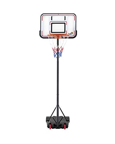 JUPDOG Basketball Hoop Portable Adjustable Height Poolside Basketball Stand System for Youth Kids...